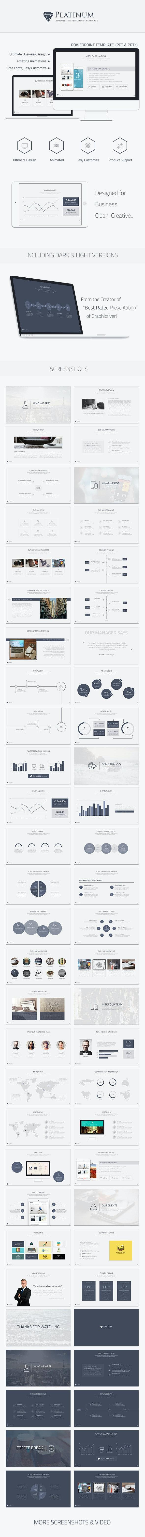 Platinum Business Powerpoint Template - Business PowerPoint Templates