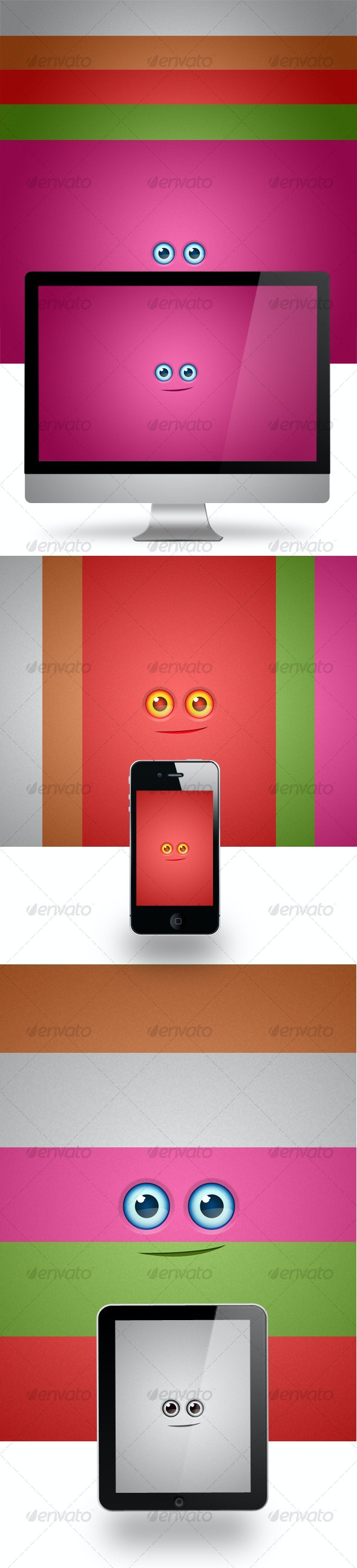 ColorfulEyesBackground - Backgrounds Graphics