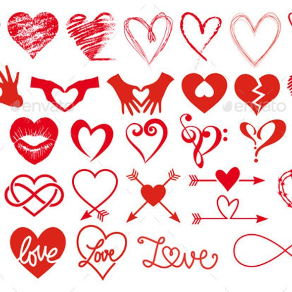 Heart and Love Set