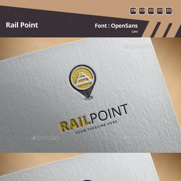 Rail Point Logo Template