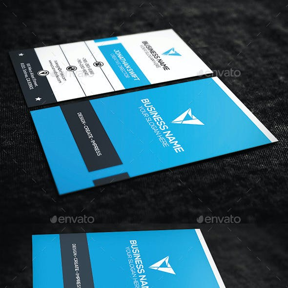 Blue Vertical Corporate Business Card