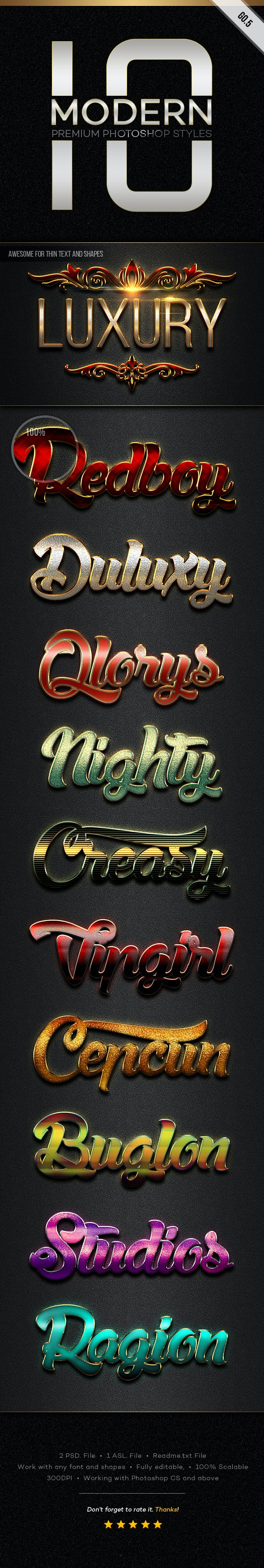 10 Modern Styles GO.5 - Text Effects Styles