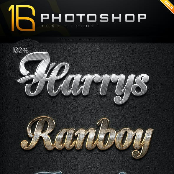 16 Photoshop Text Effect Styles GO.4