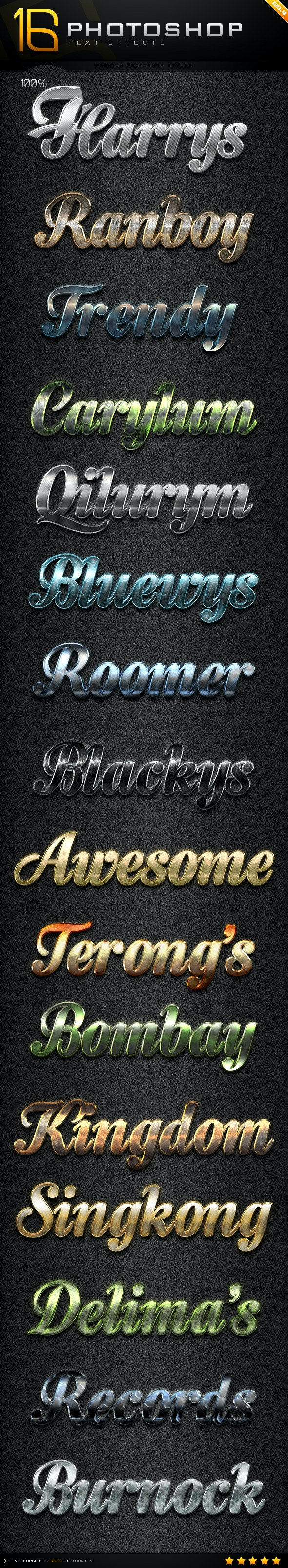 16 Photoshop Text Effect Styles GO.4 - Text Effects Styles