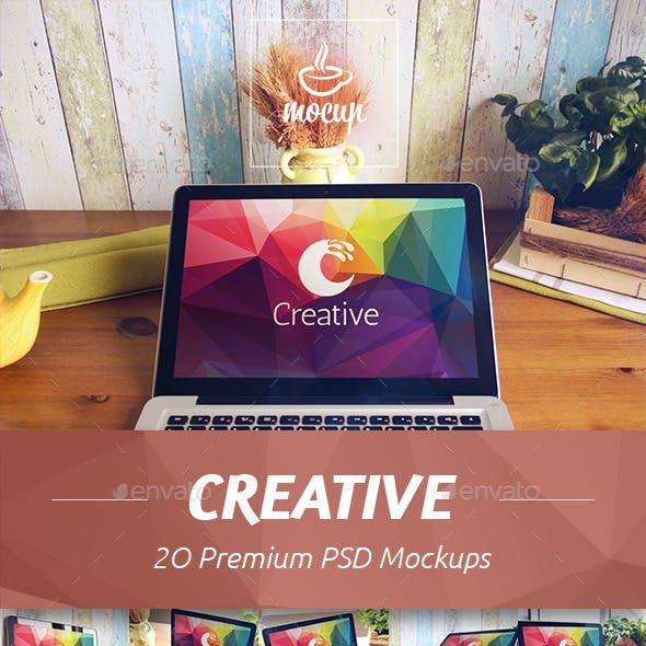 20 PSD Creative Macbook Mockup