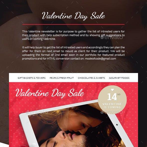 Valentine Day Sale Newsletter