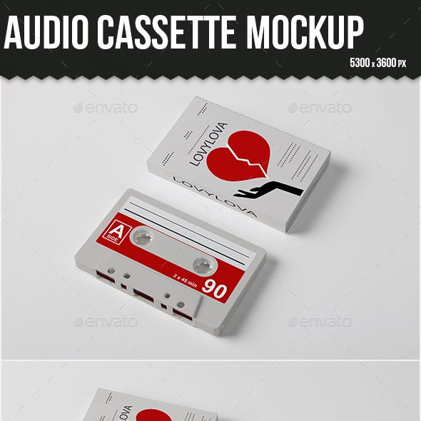 Audio Cassette Mock-up