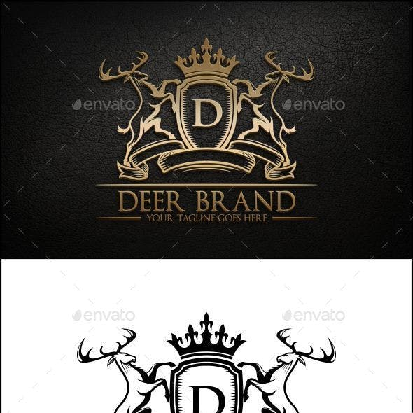Deer Brand Logo Template