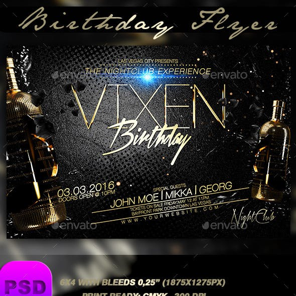 Birthday Flyer