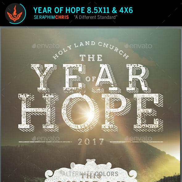 Year of Hope Rustic Church Flyer Template