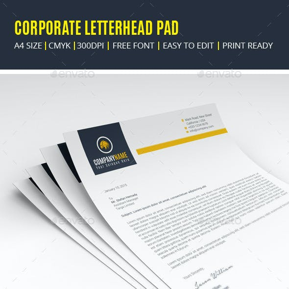 Corporate Letterhead Pad