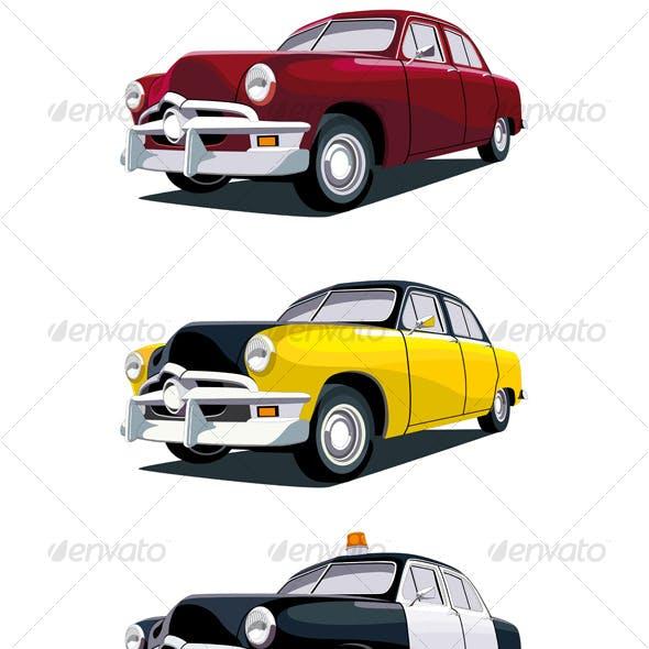 American vintage car