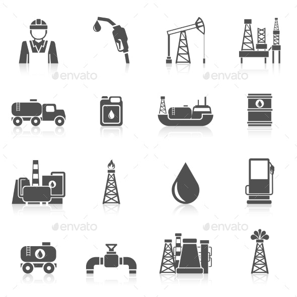 Oil Industry Icons - Industries Business