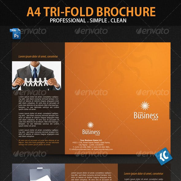 Clean and Professional A4-Tri-Fold Brochure