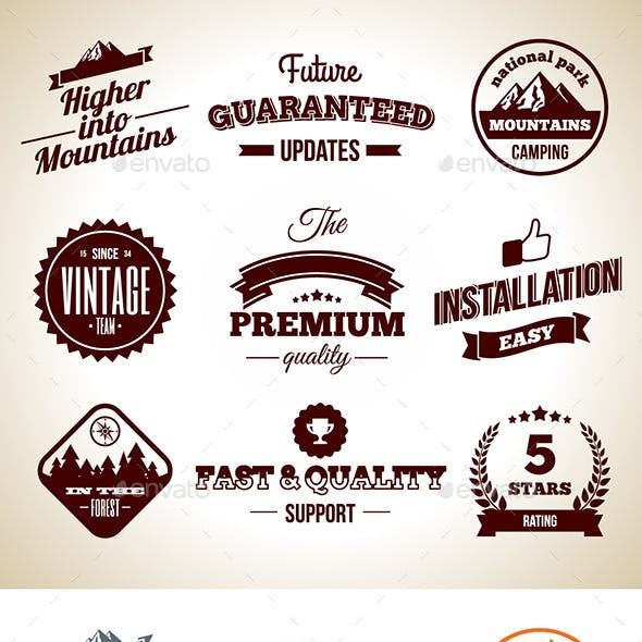 Vintage Badges. Premium labels. Hight Quality Design Elements
