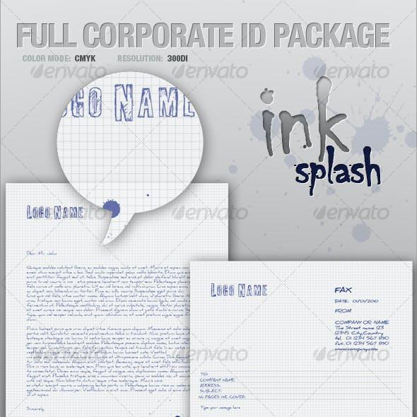 FULL CORPORATE ID PACKAGE - ink splash