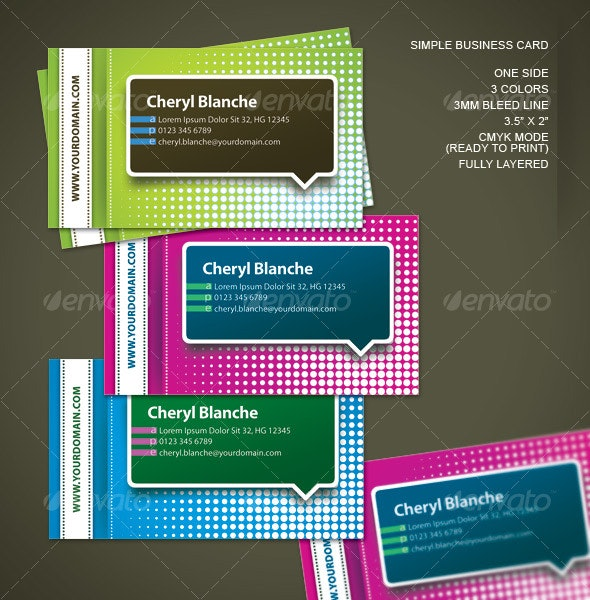Simple One Side Business Card - Creative Business Cards