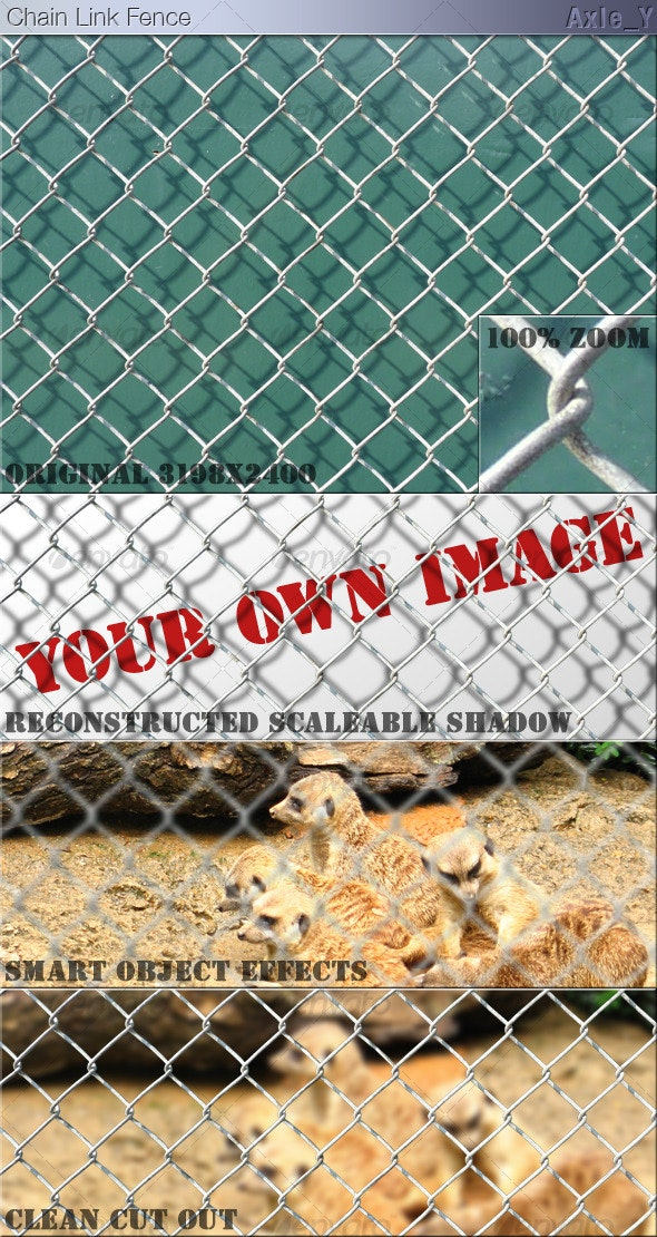 Layered Chain Link Fence - Industrial / Grunge Textures