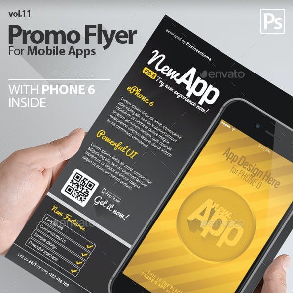 Mobile App Flyers Template 11