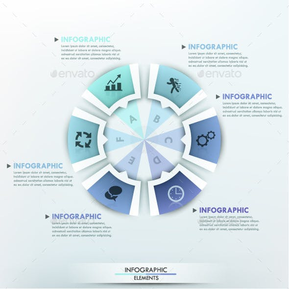 Moderne Infographic Options Circle Template