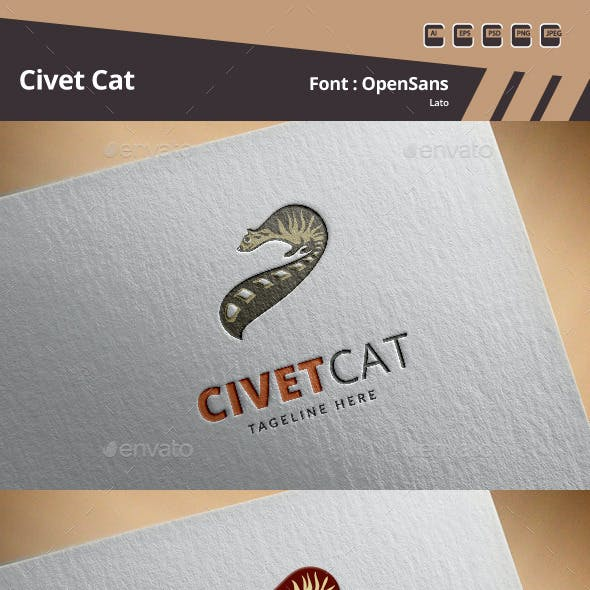 Civet Cat Logo Template