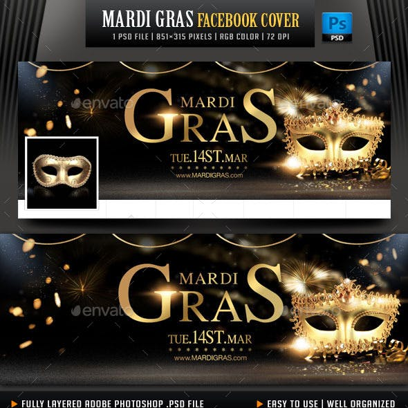 Mardi Gras Facebook Cover