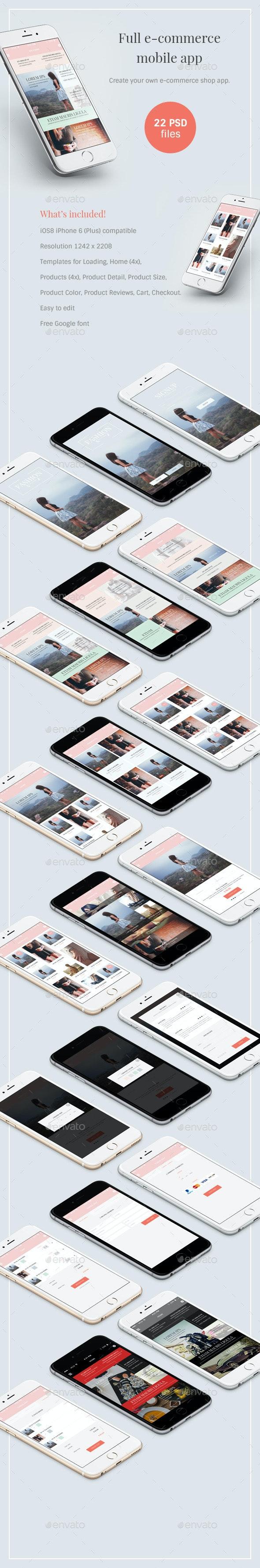 E-commerce mobile app - User Interfaces Web Elements