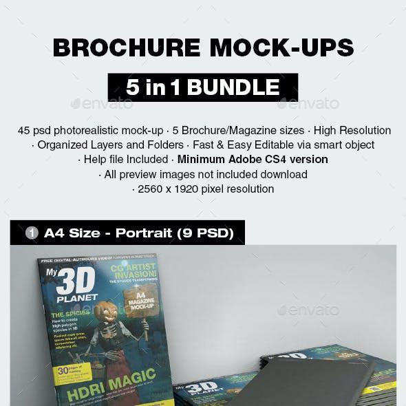 Brochure Mock-up Bundle