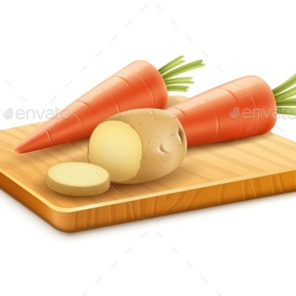 Organic Vegetables with Carrots and Potatoes