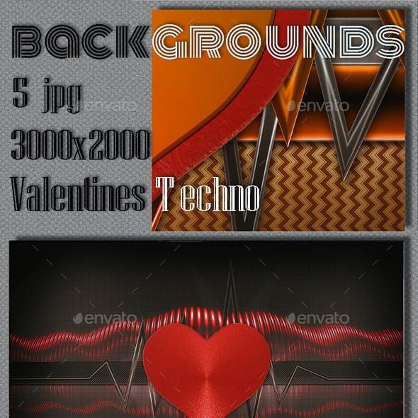 Valentine Techno Backgrounds