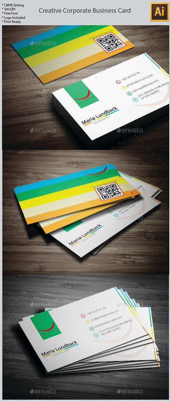 Creative Corporate Business Card - Creative Business Cards