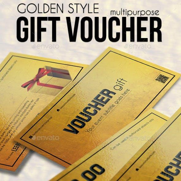 Multipurpose Golden Gift Voucher