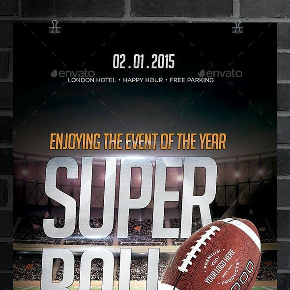 Super Ball Football Flyer
