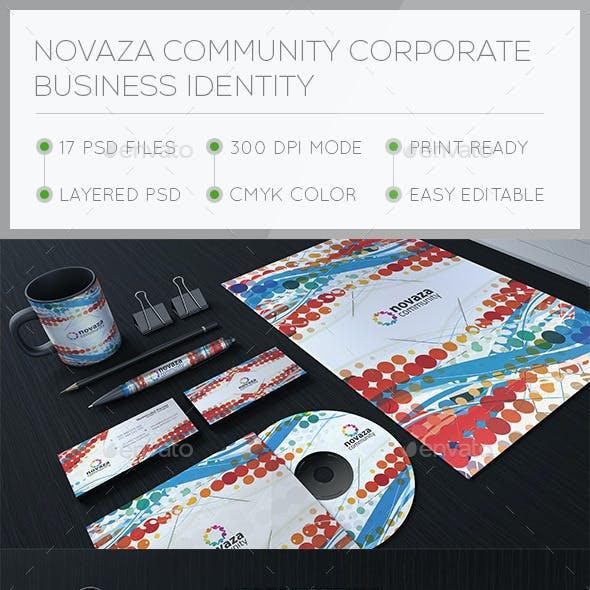 Novaza Corporate Stationary Identity