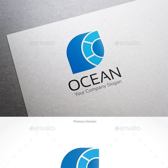 Ocean O letter Logo