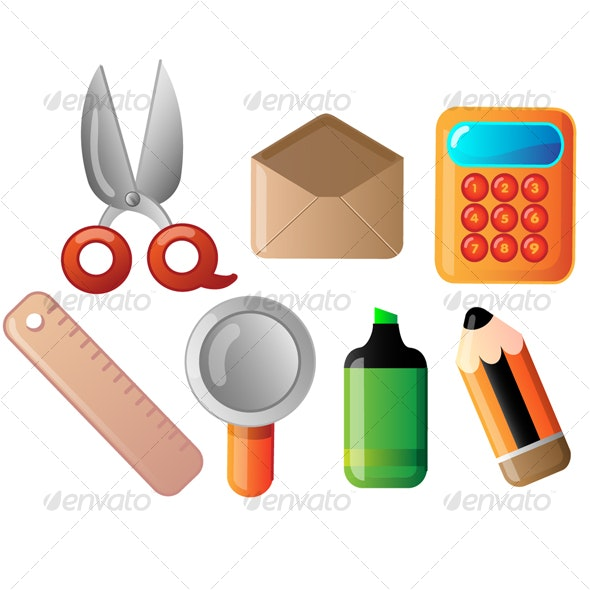 stationery icon set - Objects Icons