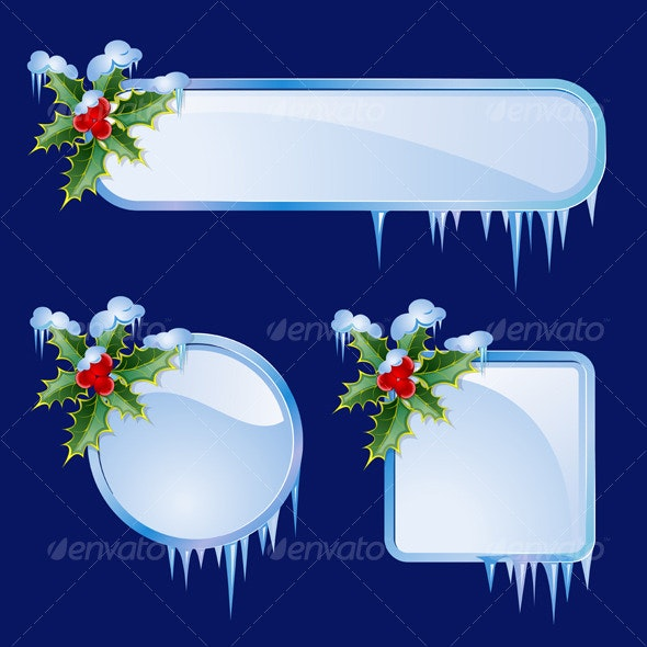Set from christmas frames - Backgrounds Decorative