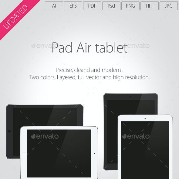Pad Air Vector Tablet