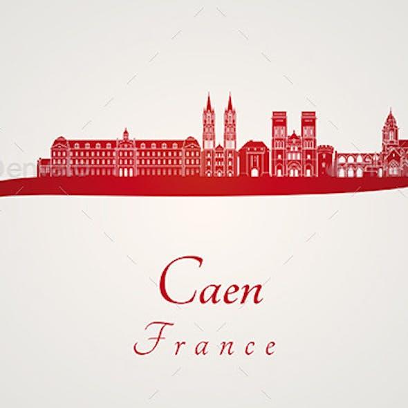 Caen Skyline in Red