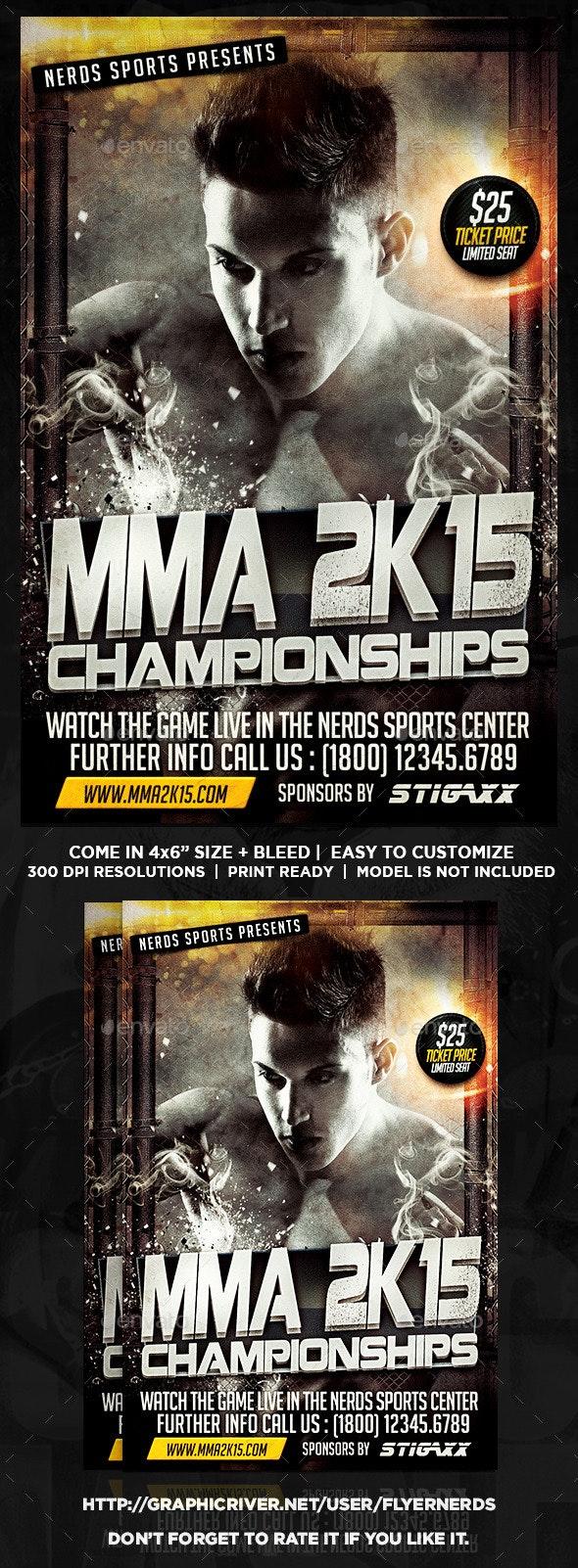 MMA 2K15 Championships Sports Flyer - Sports Events