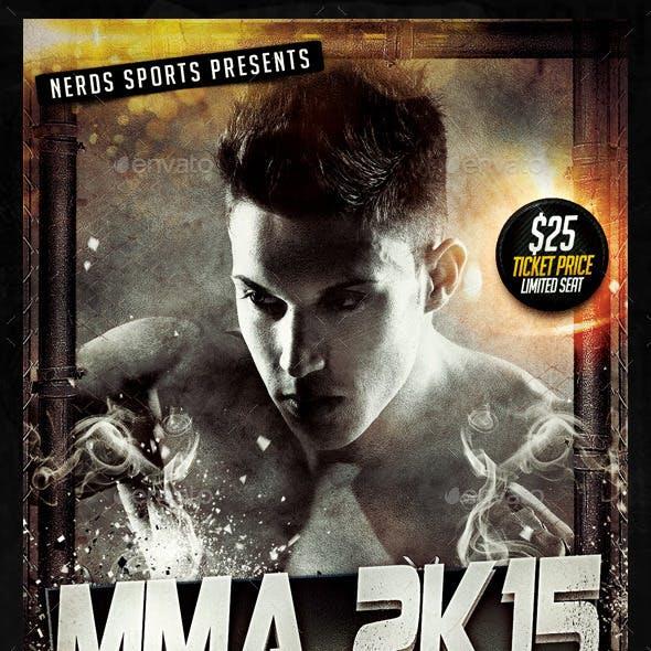 MMA 2K15 Championships Sports Flyer