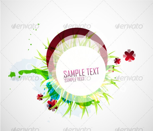 Abstract floral vector design - Backgrounds Decorative