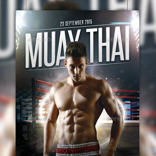 Muay Thai Fight Flyer Template