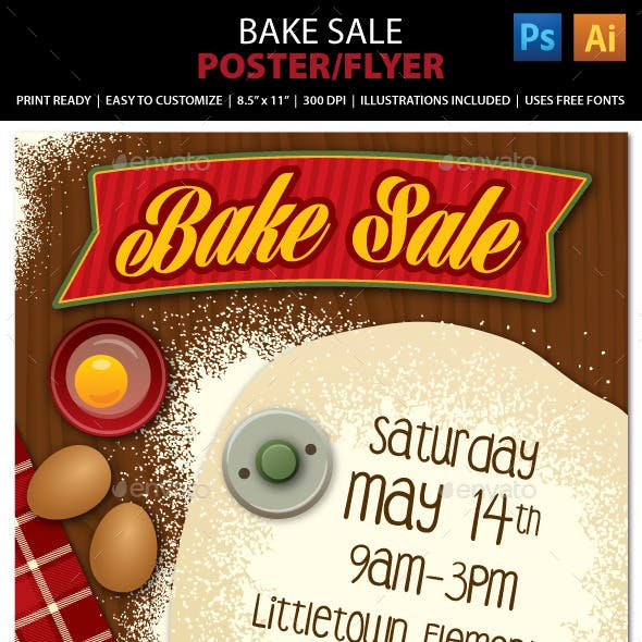 Bake Sale or Bakery Poster or Flyer
