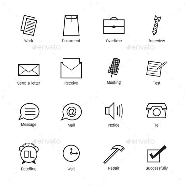 Business and work Icons