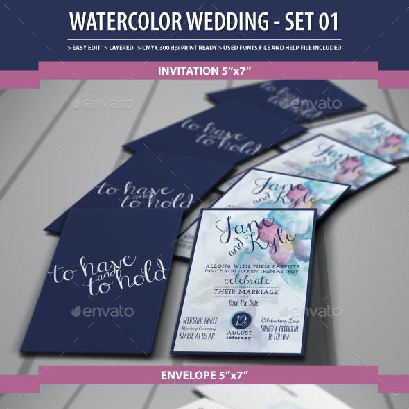 Watercolor Wedding  - Set01