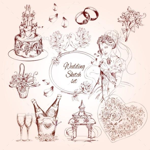 Wedding Sketch Set