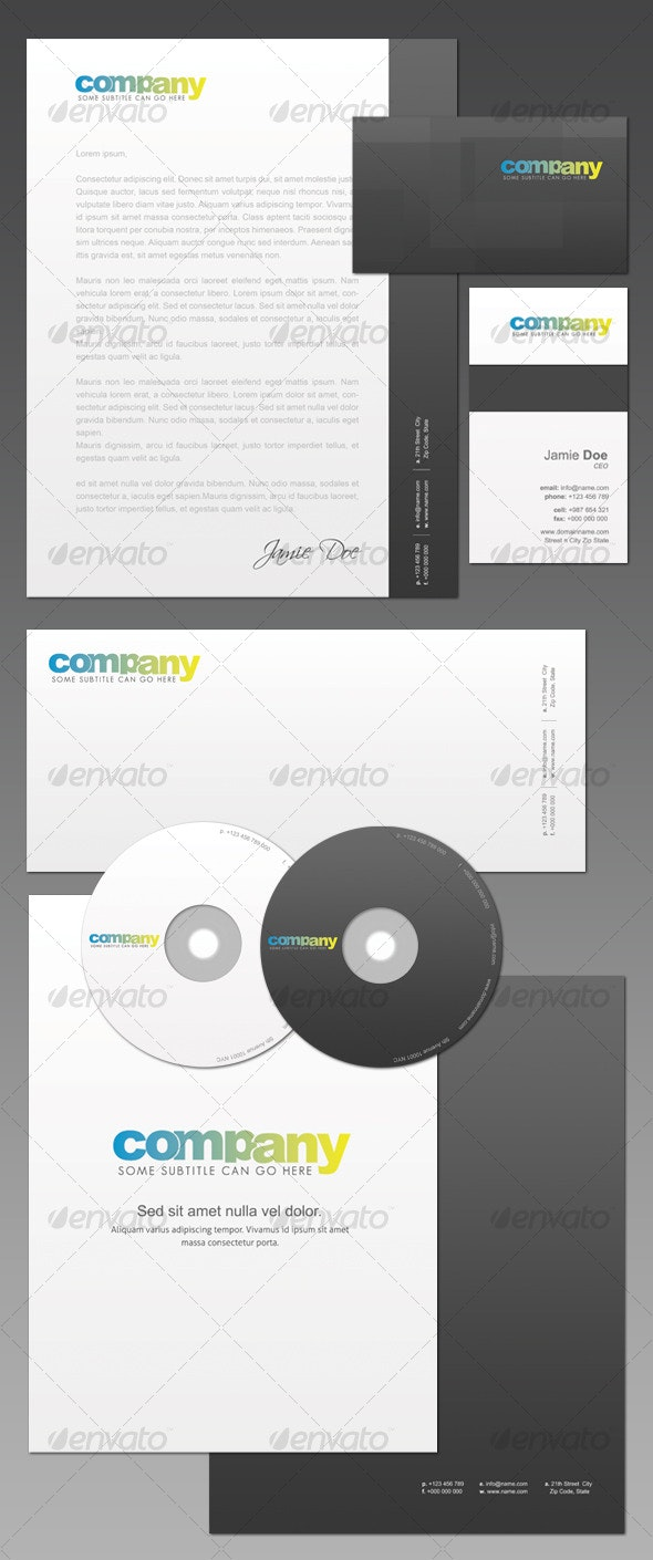 ID Pack 4 - Stationery Print Templates