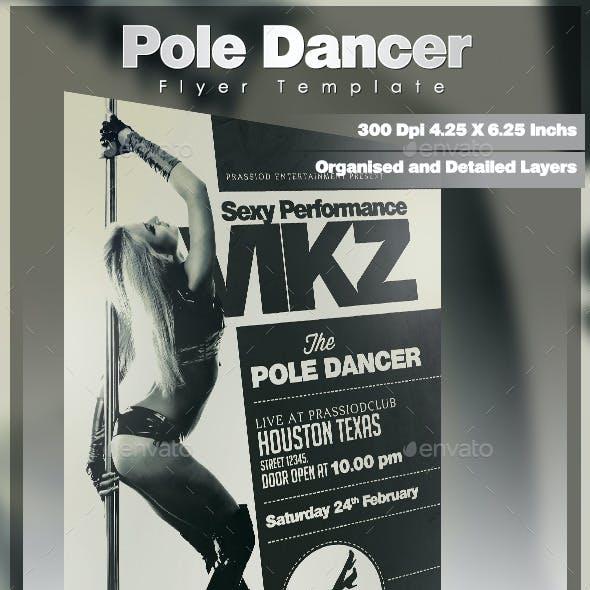 Pole Dancer Flyer Template