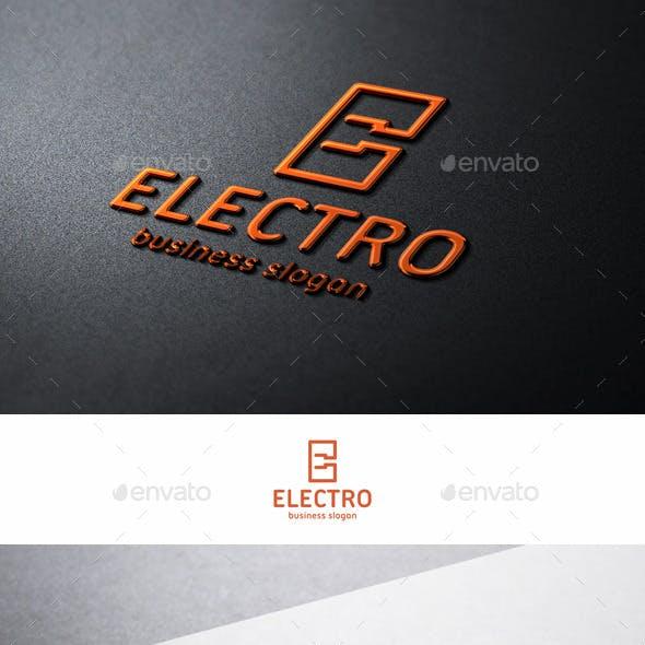 Electro Plug Logo E Letter